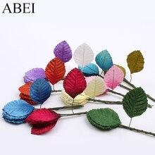 10pcs/lot Artificial Velvet Leaf Bouquet For Wedding Party Scrapbook Decoration Quality Silk Fabric Leaves DIY Wreath Garland