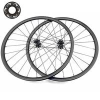 27.5in carbon mtb wheels 30x30mm tubeless 27.5er tubeless carbon disc wheel Straight pull 6 claw DH825 100x15 142x12 wheels bike