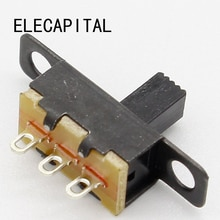 Mini interrupteur coulissant SPDT noir 5V 0,3a   20 pièces, pour petit appareil électrique bricolage, en vogue