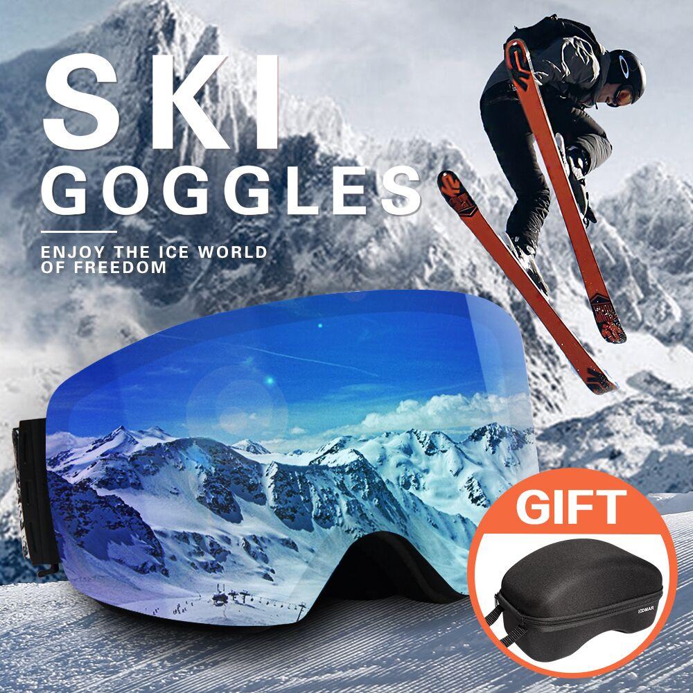 DMAR ski goggles anti-fog Protection keep warm glasses men women snow goggles skating mask