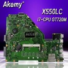 Akemy X550LC carte mère dordinateur portable pour For Asus X550LC X550LD X550LN Test carte mère dorigine pas de RAM I7-CPU GT720M