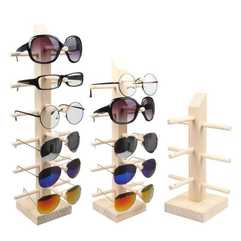 New Sun Glasses Eyeglasses Wood Display Stands Shelf Glasses Display Show Stand Holder Rack 9 Sizes