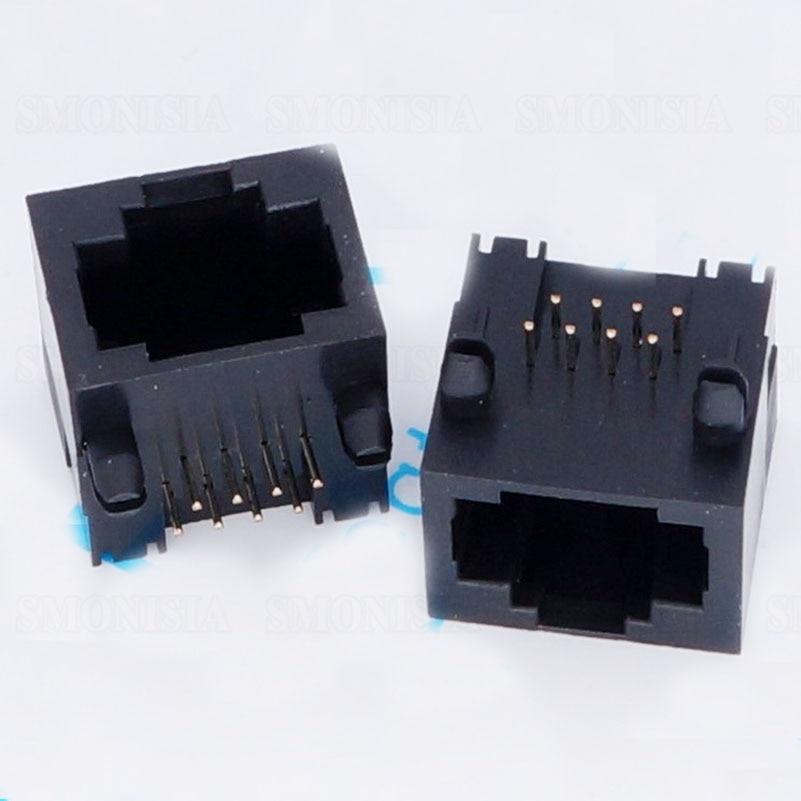 50 pcs-5000 pcs RJ45 שקע 56 כל פלסטיק רשת נקבה שקע לא אור לא רסיסי מחבר