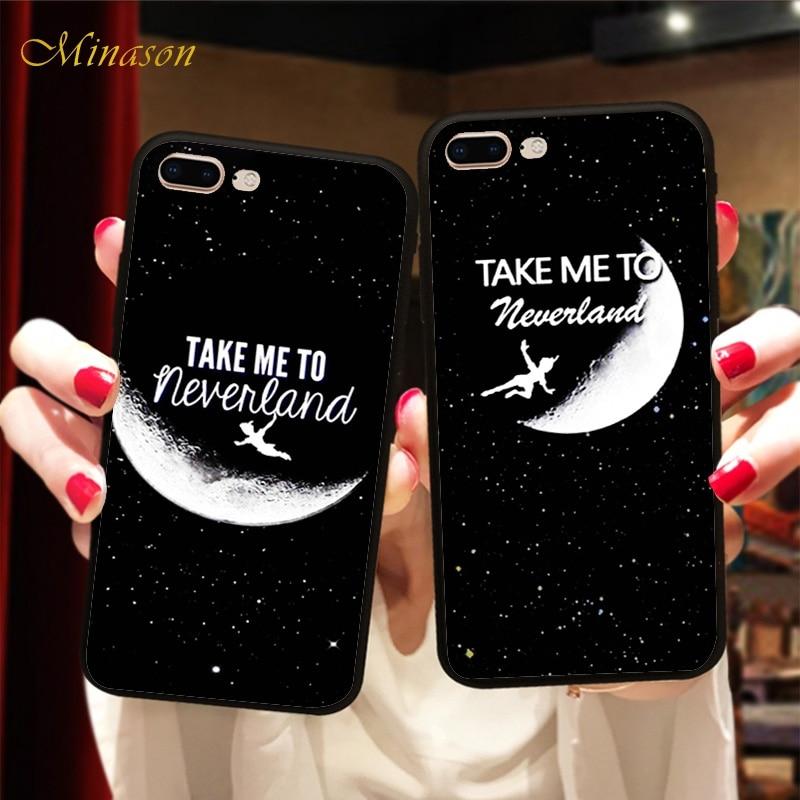 Mejor amigo Jack Skellington Sally Peter Pan Lover pareja suave funda de silicona para iPhone X 8 5 5S 6 6S 7 Plus BFF cubierta