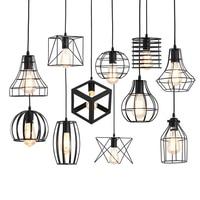 Pendant Lights Pendant Lamp Nordic light For Cafe Restaurant Bedroom metal Hanglamp Kitchen Colorful Suspension Black Cage