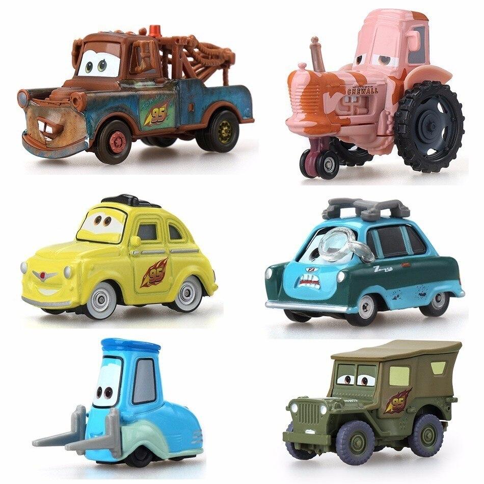 Детские игрушки Disney Pixar Молния Маккуин, пластиковые машинки, игрушки, Мультяшные модели, рождественские подарки, игрушечные транспортные ср...