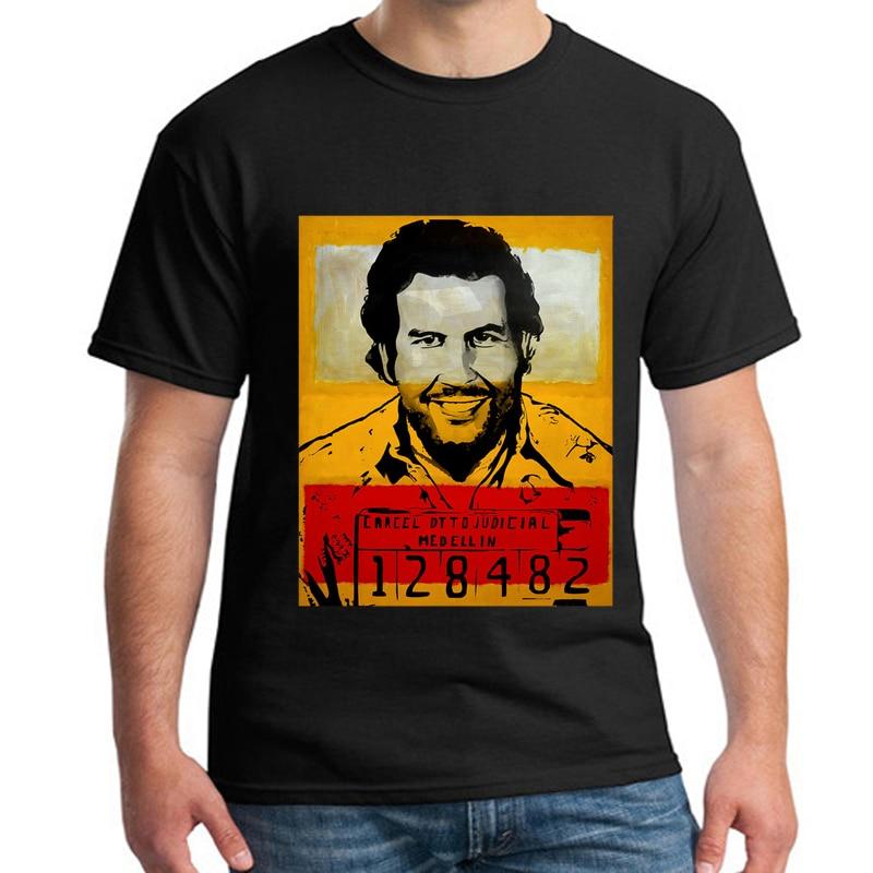 Summer New Brand Clothing T Shirts Men Narcos Pablo Escobar T-shirt Cotton Hip  Hop O Neck Tees Tops Harajuku Streetwear MJ