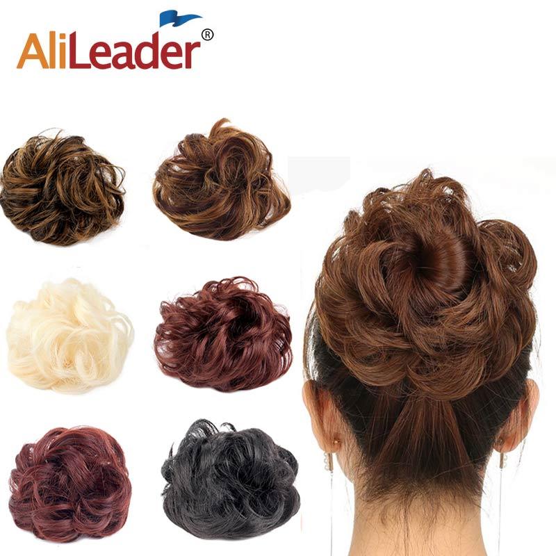 Волосы для волос AliLeader, черные и коричневые синтетические шиньоны из термостойкого волокна для женщин