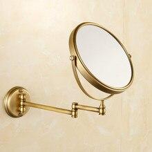 Antyczny brąz miedź elegancki 8 Cal łazienka lustro powiększające piękna łazienka lustro łazienka sprzętu