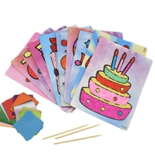 DIY el sanatları oyuncaklar çocuklar için anaokulu el sanatları malzeme keçe kağıt kek el işi sanat çocuk oyuncak hediye