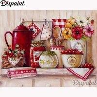 Dispaint     peinture diamant  ustensiles de cuisine  paysage   perceuse carree ou ronde 5D  bricolage  broderie  point en croix  decor de maison  A11467