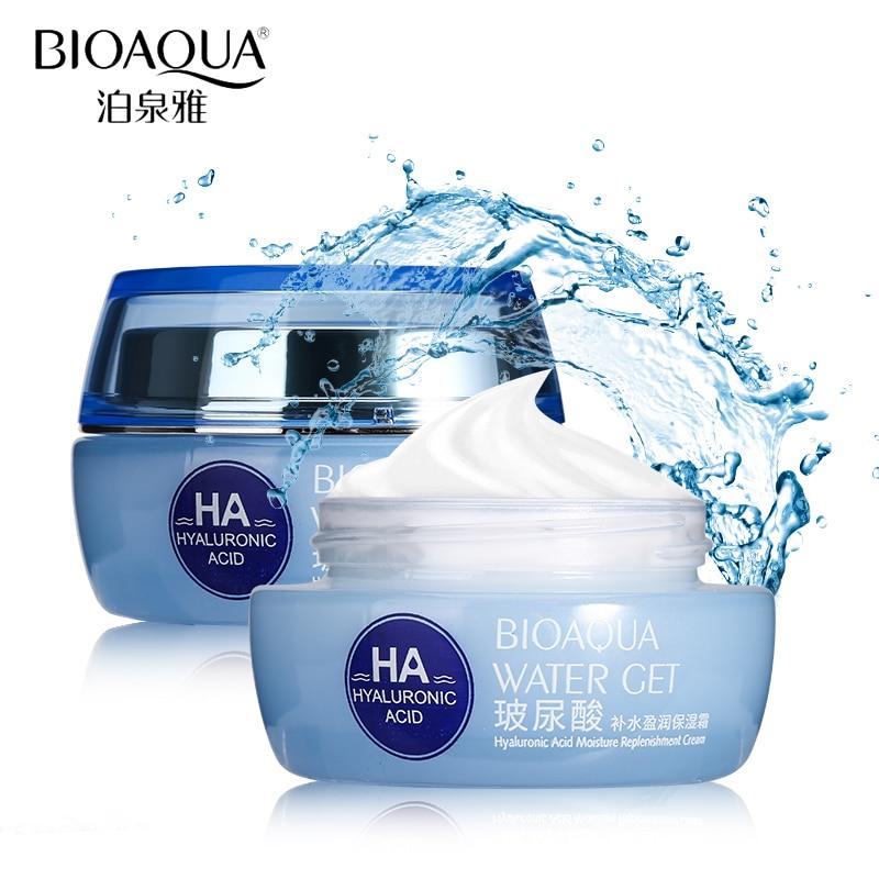 BIOAQUA Brand Hyaluronic Acid Moisturizing Face Cream Improve Dry Skin Anti Wrinkle Anti Aging Collagen Whitening Day Cream 50g