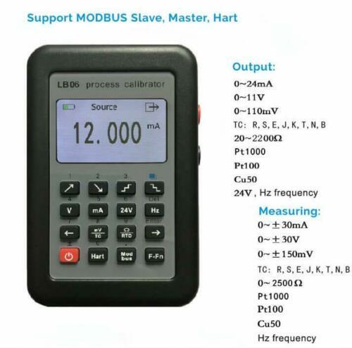 Nova fonte de gerador de sinal atual do calibrador do processo de lb06 hart modbus 4 2020ma/0 10 10 v