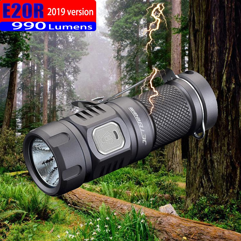 2019 jetbeam e20r edc lanterna cree sst40, n4 bc led 990 lúmens 4 modelo de função de memória lateral interruptor 16340 lanterna