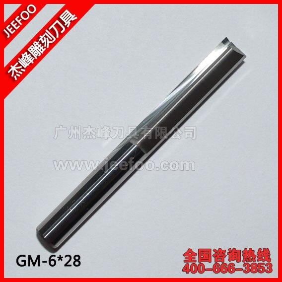 6*28mm dwa proste flety frezy, narzędzia do grawerowania CNC, frezy CNC do wielowarstwowej płyty, sklejki, MDF, pianki