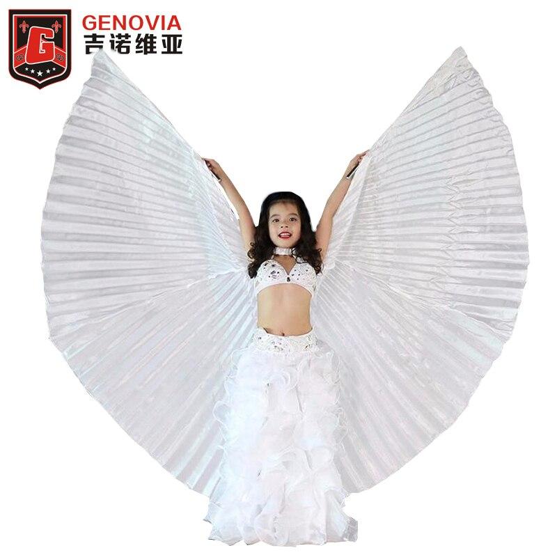 Dança do ventre asas isis para meninas cosplay trajes carnaval halloween crianças dança vestir adereços branco dança do ventre asas e vara