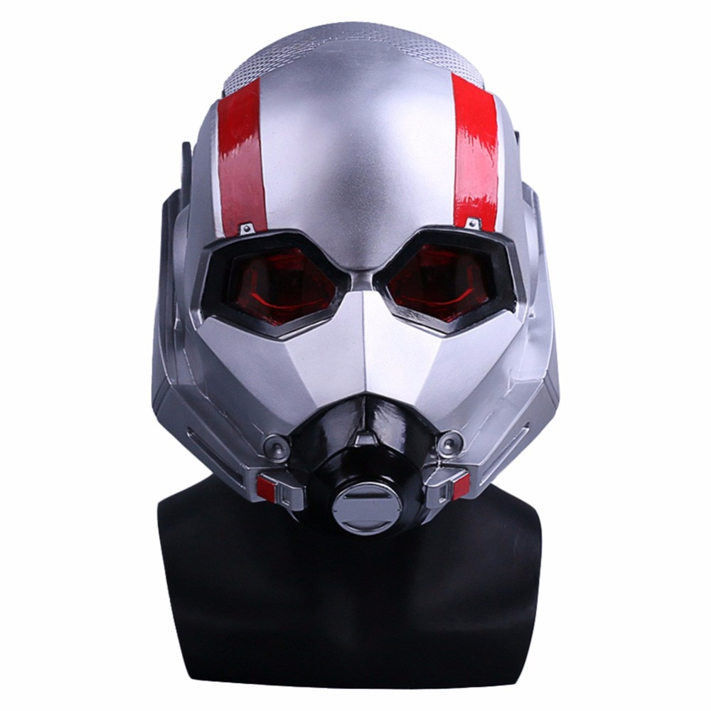 Máscara de Ant-Man casco de PVC película Ant-Man y la avispa máscara de Cosplay Scott Edward cascos máscaras nuevos accesorios de fiesta de Halloween
