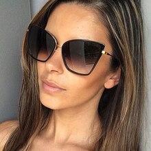 Hot fashion Alloy Cat Eye Sunglasses Women Gradient Lens Sun Glasses Vintage Metal Oculos Feminino Travel Driving Gafas De Sol
