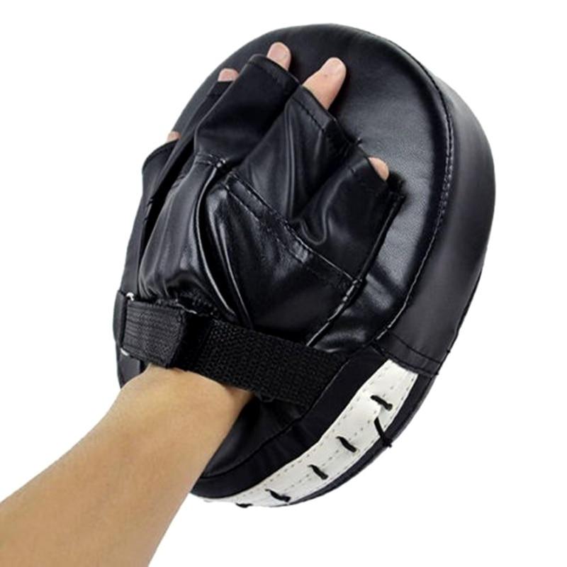 1 Uds. Guante de enfoque plano de entrenamiento para hombres PU espuma caja de combate guantes almohadillas Boxer blanco Pad guantes para Muay Thai