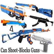 Revolver pistolet puissance pistolet technique appel de devoir militaire blocs de construction brique arme SWAT pubg ww2 silah jouets pour garçons