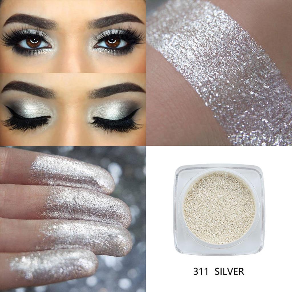 12 cores shimmer sombra paleta glitter maquiagem em pó à prova dwaterproof água longa duração ouro branco azul sombra paleta #2