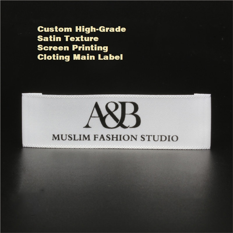 Etiqueta de cuello de marca de alta calidad personalizada etiqueta lateral etiqueta principal para ropa Etiqueta de ropa