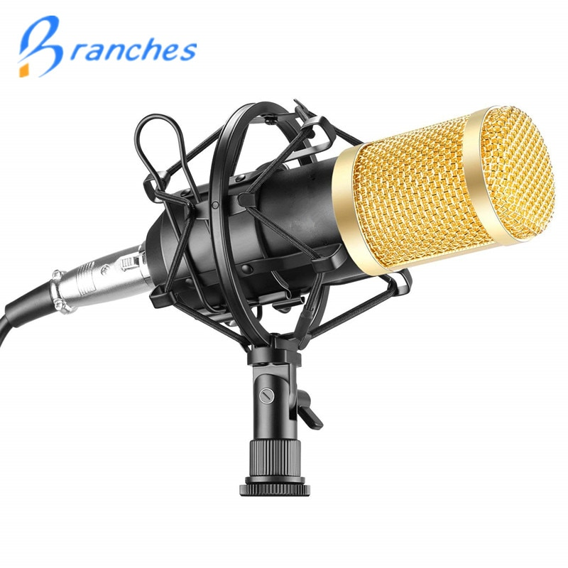 BM800 Mikrofon Kondensator Sound Aufnahme Mikrofon Mit Shock Mount Für Radio Braodcasting Singen Aufnahme KTV Karaoke BM 800