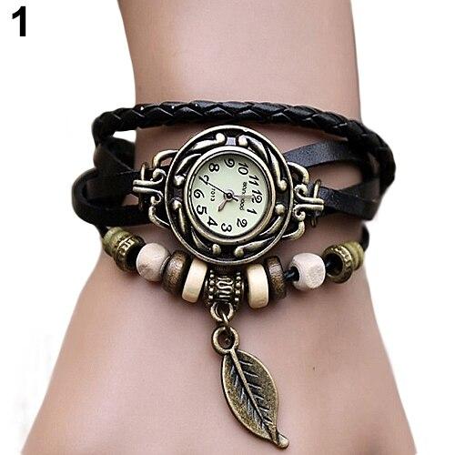 2019 neue frauen Uhr Retro Leder Armband Baum blatt Dekoration Armbanduhr Damen Quarzuhr relogio feminino часы