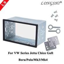 Double 2 Din Hardware Auto Stereo Radio Fascia Frame Voor Vw Serie Jetta Chico Golf Bora/Polo/MK3/MK4 Carkit Stereo