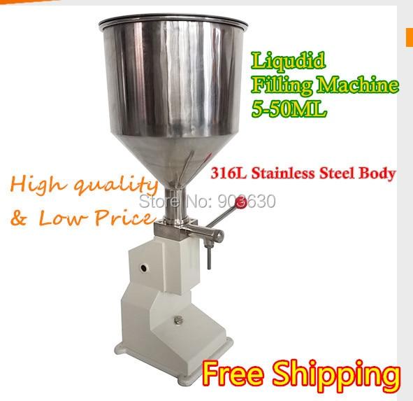Máquina de llenado de líquido de pasta de crema Manual de Material de acero inoxidable (5-50 ml) máquina de llenado de botellas de líquido máquina de llenado de miel