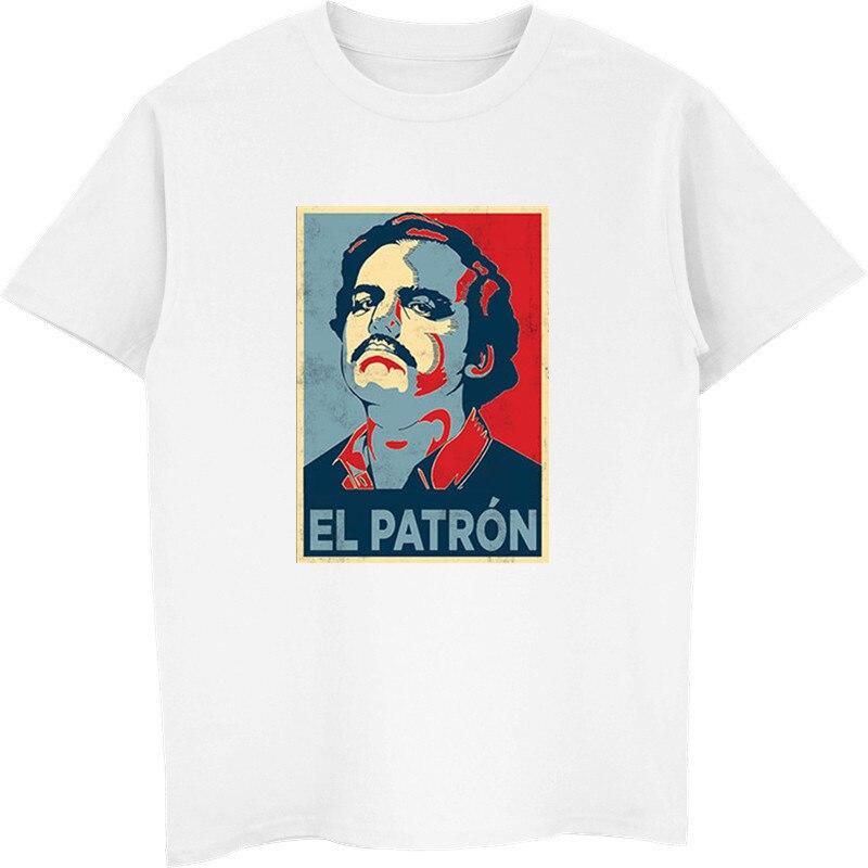 Moda gran oferta Pablo Escobar camiseta de mujer, El patrón de la droga señor Narcos camiseta hombres de manga corta Camisetas Streetwear Harajuku