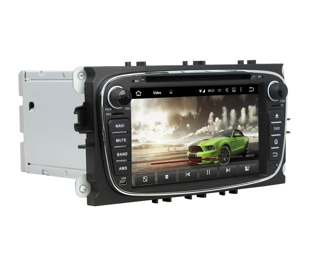 "Android 8,0 Octa Core 2 din 7 ""coche DVD GPS para Ford Mondeo Tourneo tránsito S-max 4GB RAM Radio Bluetooth WIFI USB espejo-enlace"