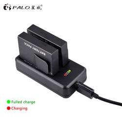 Palo 2 pçs 1010 mah AZ13-1 az13 câmera bateria para xiaomi yi ação acessórios da câmera + carregador de bateria usb