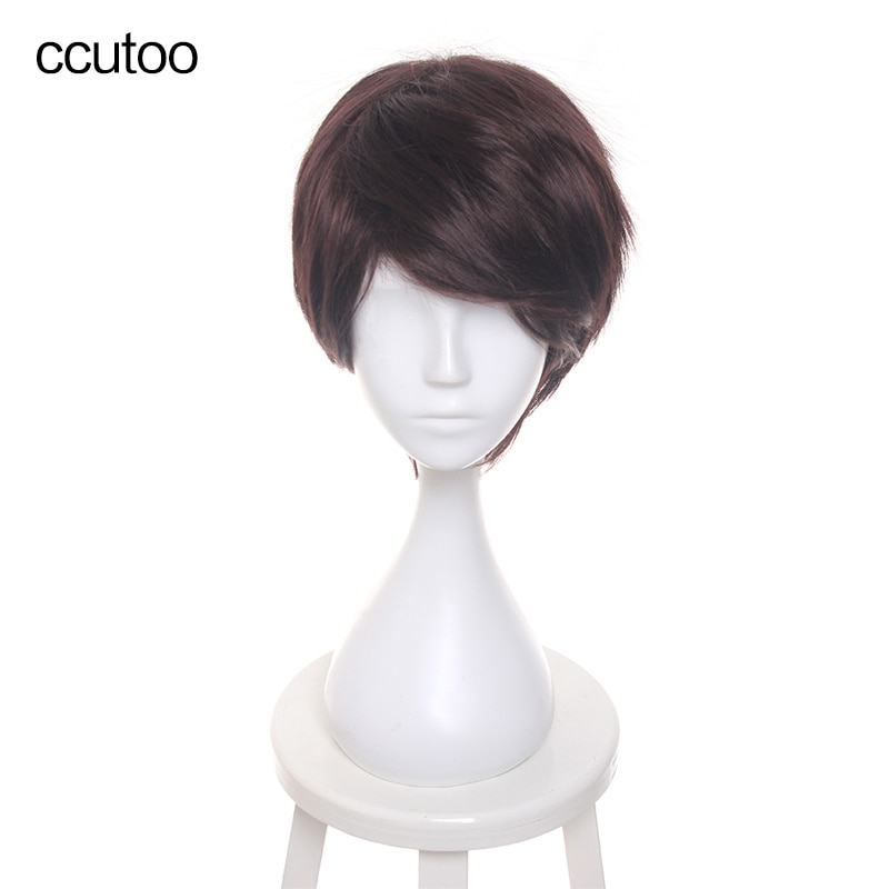ccutoo Harri Dark Brown Short Synthetic Hair Wig Cosplay wig Halloween Role Play Potter Hair