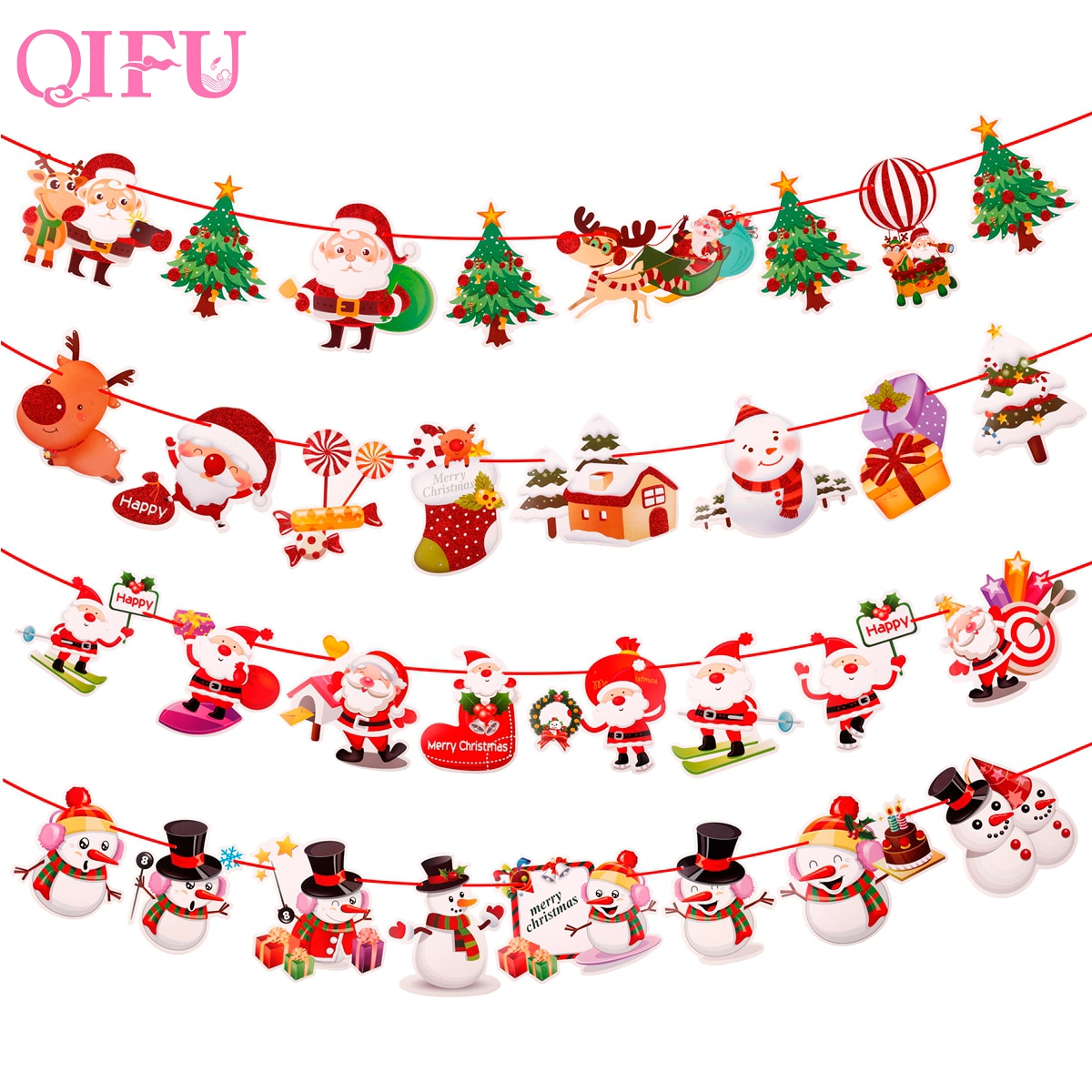 Adornos navideños para el hogar QIFU, luces navideñas para árbol de Navidad 2020, adornos navideños, regalos de Navidad, Feliz Año Nuevo 2021