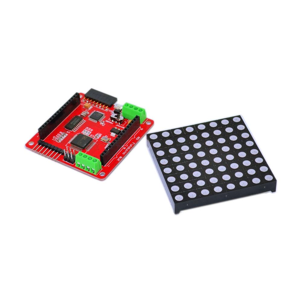 Frete grátis! 1 PCS Full color 8*8 LED RGB matrix placa de driver de tela + 1 PCS RGB dot matrix para Arduino