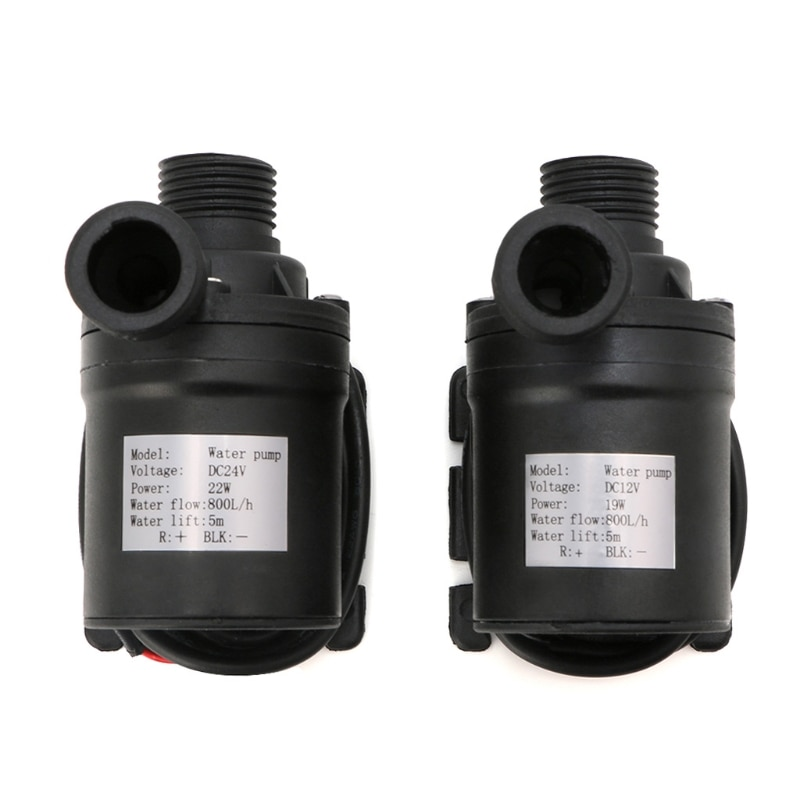 1 pcs mini dc brushless low noise water pump for solar water heater fountain 24v 350l h 2 5m mini brushless water pump 800L/H 5m DC 12V 24V Solar Brushless Motor Water Circulation Water Pump High Quality