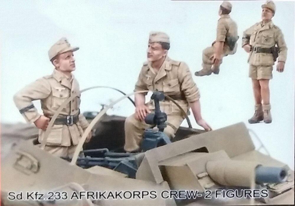 Ensamblaje sin pintar escala 1/35 Sd. Kfz.233 Afrikakorps Crew soldier figura Historical Resin Kit de miniaturas de Modelismo