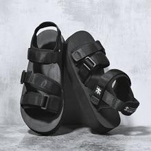 SUROM été plage appartements sandales hommes chaussures décontracté en plein air mode confortable léger gladiateur sandales pour hommes noir nouveau