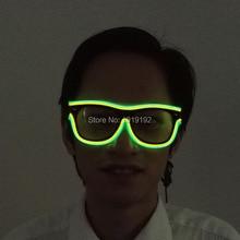 Lunettes de soleil colorés Double à fil El   À luisant, lumière vive de sécurité, lunettes clignotantes led multicolores avec son 3V, pilote actif