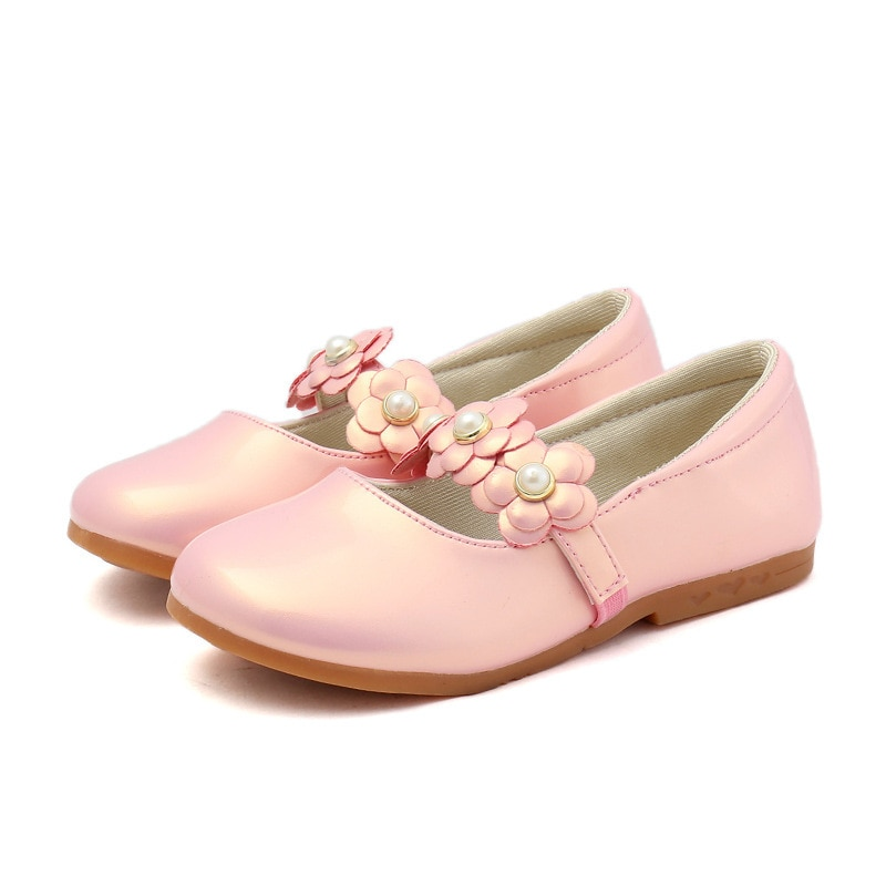 2019New Baby Girls Shoes Kids Children Flowers Princess Shoes Dance Wedding Party Shoes Black white pink 3 4 5 6 7 8 9-14T