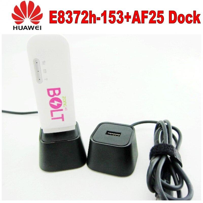 هواوي E8372H-153 عالية السرعة 4G + واي فاي مودم USB دونغل مع 4g هوائي و هواوي AF25 حوض