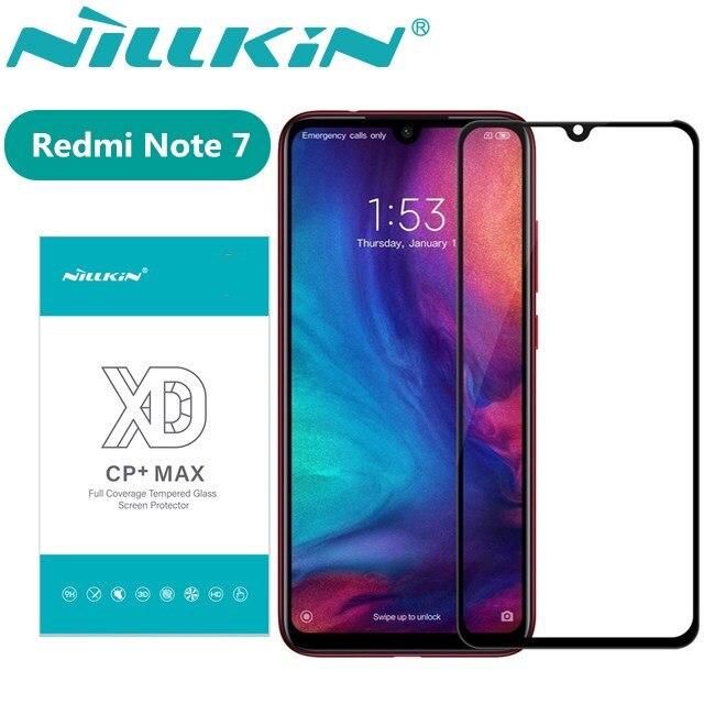Redmi Note 7 Pro de Nillkin XD CP + Max de la cubierta completa 3D protector de pantalla de vidrio templado para Xiaomi Redmi Note 7 cristal nilkin