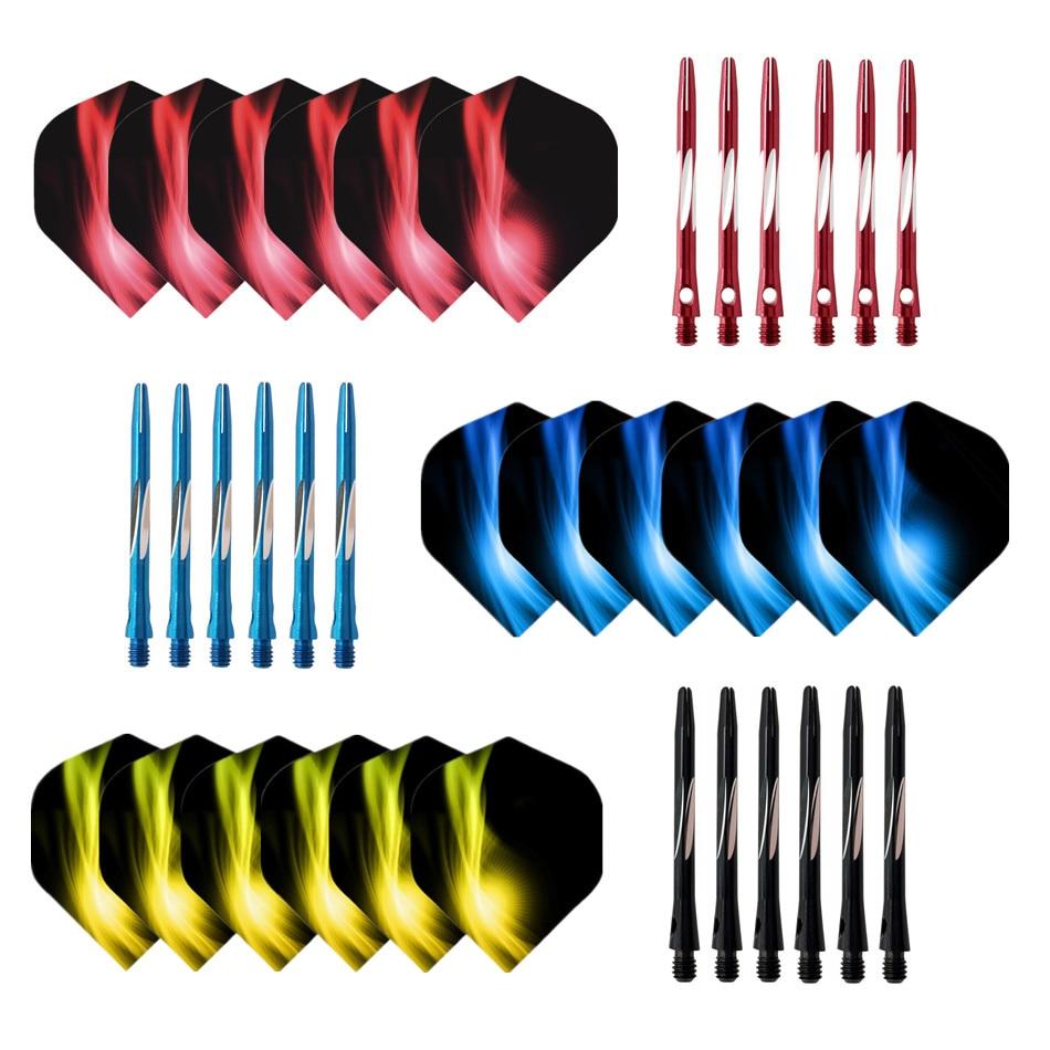 darts life Cavalier free shipping 6pcs  auminum darts shafts with 6pcs Nice Pattern Darts darts fligt darts accessories