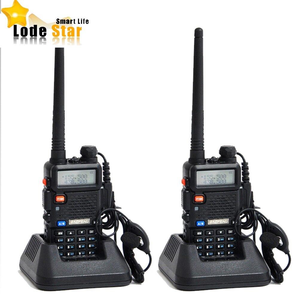 2020 Original Baofeng UV 5R uv-5r Portable double bande VHF UHF radio bidirectionnelle 136-174/400-520 jambon cb radio talkie-walkie 2 pièces/ensemble
