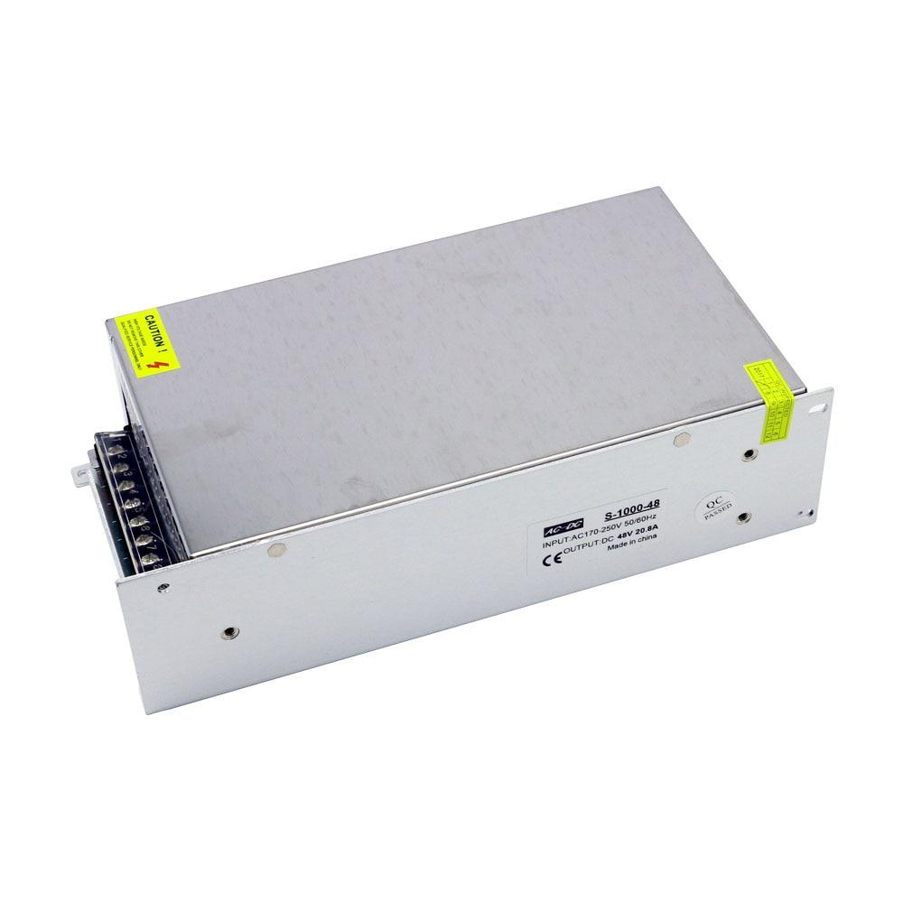 مصدر طاقة عالي 1000 واط ، تيار متردد إلى تيار مستمر ، 48 فولت ، 20.8 أمبير ، محرك LED ، تبديل الجهد المستمر ، مصدر الطاقة