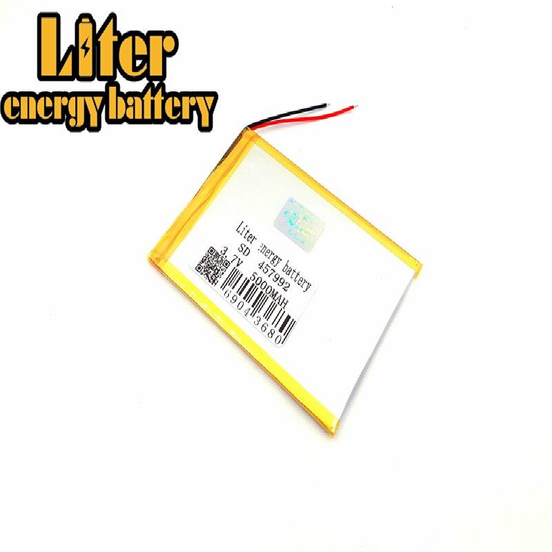 3.7v,5000mah 457992 458090 Plib (polymer Lithium Ion Battery) Li-ion Battery For Tablet Pc,mp3,mp4,cell Phone,speaker!