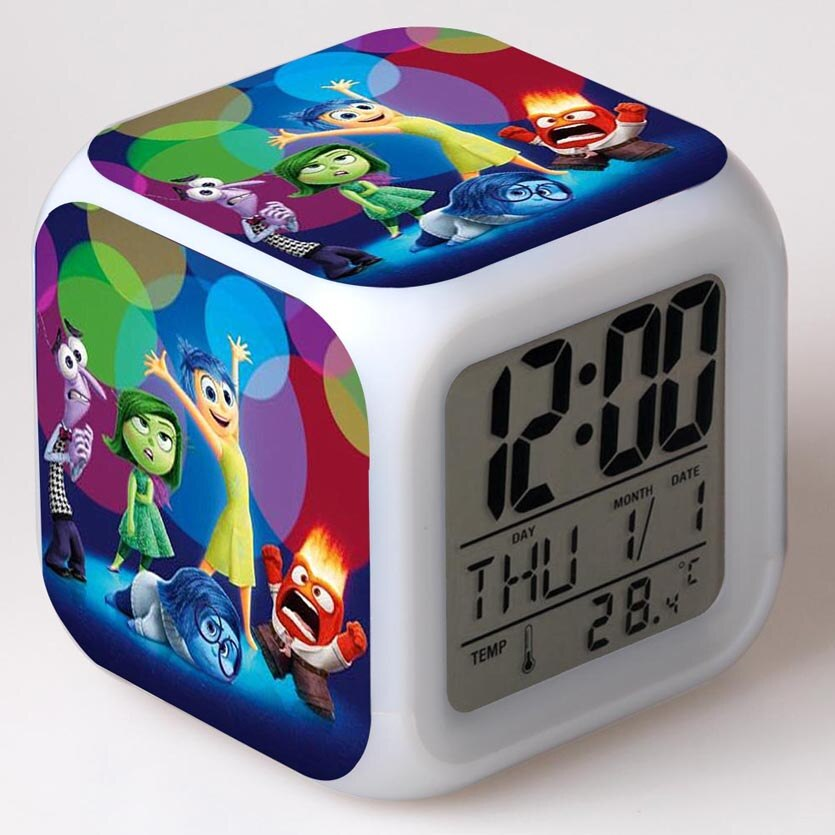 Dentro Para Fora Figuras de Alarme Relógio De Mesa Relógio LED Colorido Flash Light Touch Anime Figuras de Ação & Toy Figuras para Meninos presente