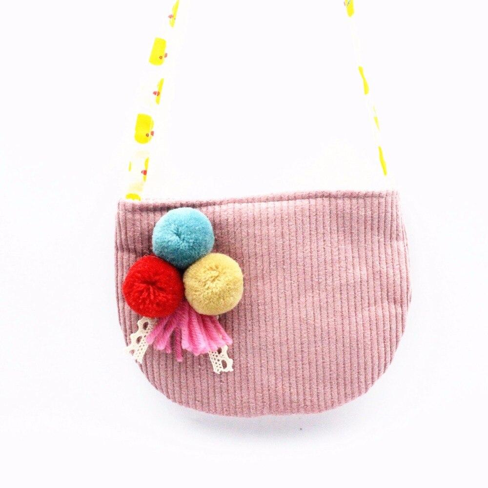 M482 bolso bonito de dibujos animados para niños, pequeño y dulce Bola de Pelo fresco, decoración, bolso de chica bonita