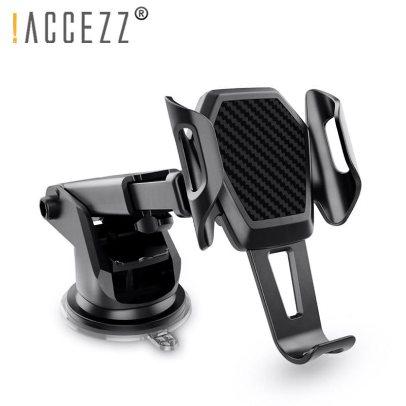 ¡! Soporte de coche ACCEZZ, soporte de coche para iPhone X XS 8 Huawei Teléfono Universal 360 grados de rotación, salida de aire de vidrio, soporte de soporte GPS